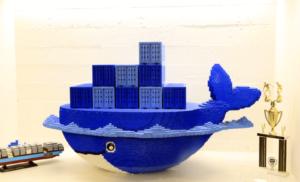 Logo de Docker en Lego session mai