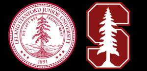 Logo de 1891 de Stanford et logo actuel de Stanford