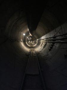 Première image du tunnel d'elon musk et de son entreprise the boring company