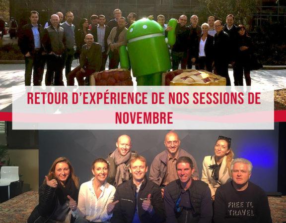 Retour d'expérience des nos sessions du mois de novembre